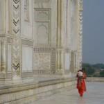 Woman at the Taj Mahal