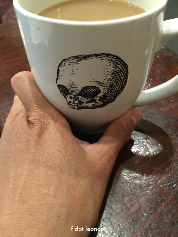 coffee filled skull